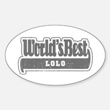 WB Grandpa [Tagalog] Oval Decal