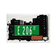 E 206 St, Bronx, NYC Rectangle Magnet