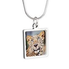 Armani Leopard Silver Square Necklace