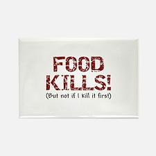 Food Kills Rectangle Magnet