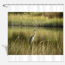OCTOBER BLUE HERON Shower Curtain