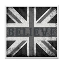 Vintage Union Jack Tile Coaster