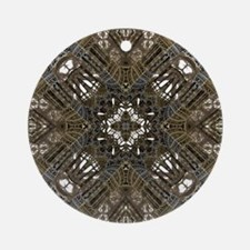 Tower Pattern Round Ornament