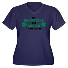 My shamrocks Women's Plus Size V-Neck Dark T-Shirt