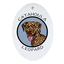 Catahoula Leopard Oval Ornament