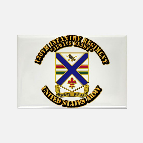 DUI - 130th Infantry Regt w Text Rectangle Magnet