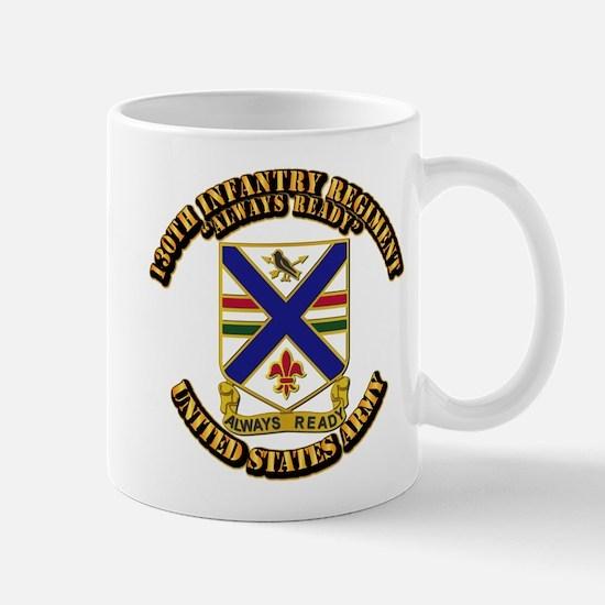 DUI - 130th Infantry Regt w Text Mug