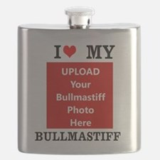 Bullmastiff-Love My Bullmastiff-Personalized Flask