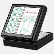Decorative Floral Pattern Keepsake Box