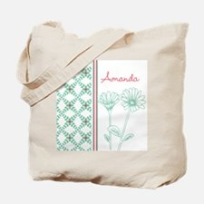 Decorative Floral Pattern Tote Bag