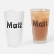 Matt Metal Drinking Glass