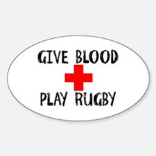 Give Blood, Play Rugby Decal