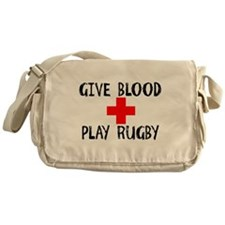 Give Blood, Play Rugby Messenger Bag