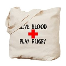 Give Blood, Play Rugby Tote Bag
