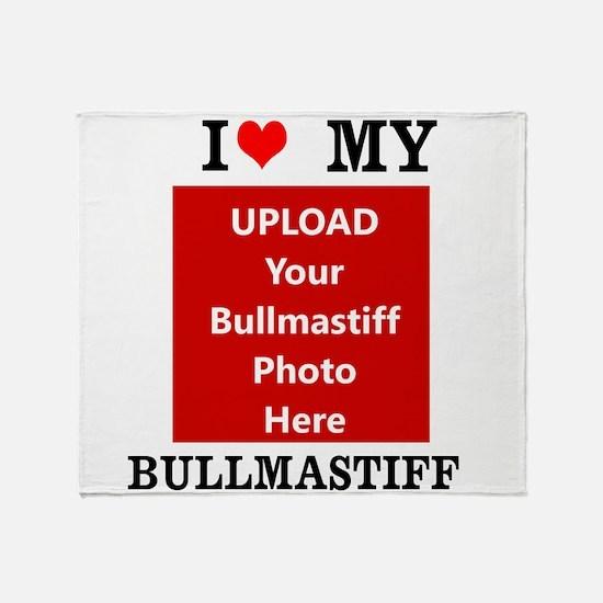 Bullmastiff-Love My Bullmastiff-Personalized Throw