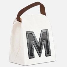 M Metal Canvas Lunch Bag