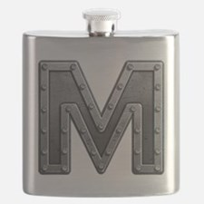 M Metal Flask