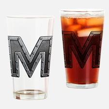 M Metal Drinking Glass