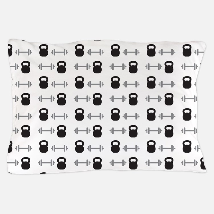 Kettlebell and Weights Pillow Case