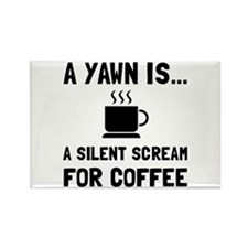 Yawn Coffee Magnets