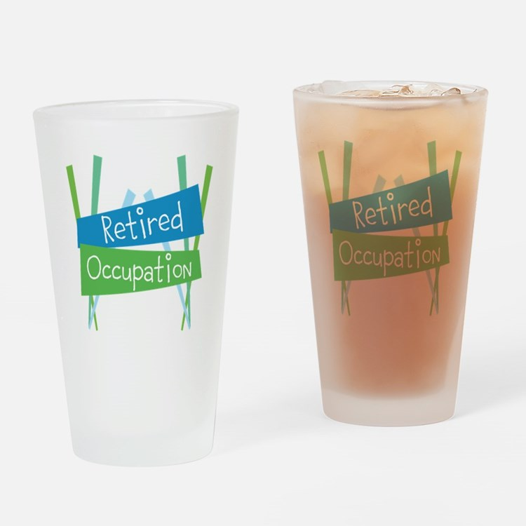 CUSTOMIZE Retired Drinking Glass
