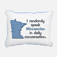 Random Minnesotan Iii Re Rectangular Canvas Pillow