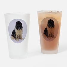 Snowy Landseer Drinking Glass