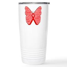 AIDS Awareness Butterfl Travel Mug