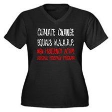 Climate Women's Plus Size V-Neck Dark T-Shirt