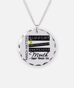 Endometriosis Awareness Mont Necklace