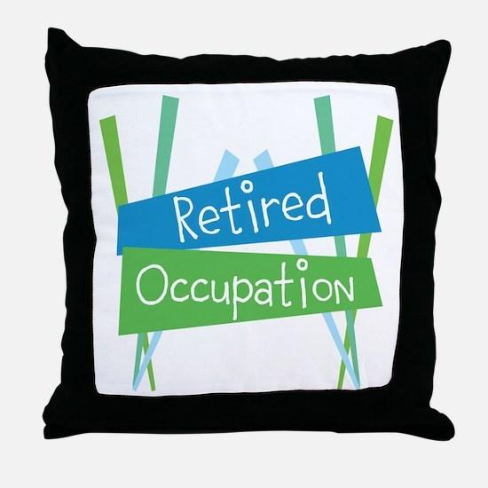 CUSTOMIZE Retired Throw Pillow