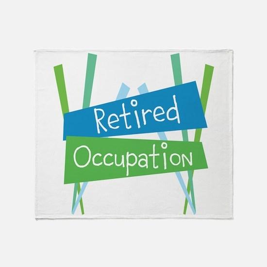 CUSTOMIZE Retired Throw Blanket