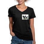 Mottle OE Pair Women's V-Neck Dark T-Shirt