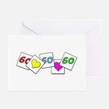 Love Being 60 Greeting Cards (Pk of 10)