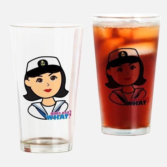 Medium Navy Head - Dress Whites Drinking Glass