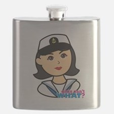 Medium Navy Head - Dress Whites Flask