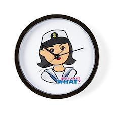 Medium Navy Head - Dress Whites Wall Clock