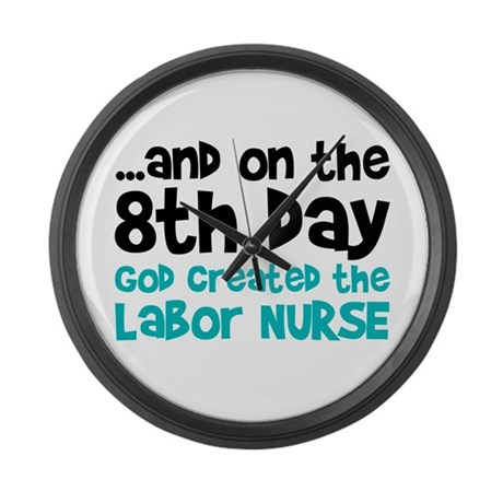 Labor Nurse Creation Large Wall Clock