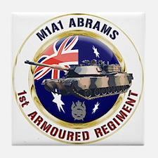 M1A1 Abrams Australia Tile Coaster