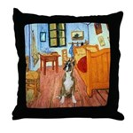 Room with a Boxer Throw Pillow