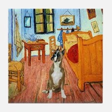 Room with a Boxer Tile Coaster