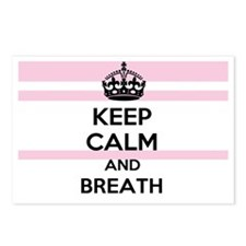 Keep Calm and Breath (2) Postcards (Package of 8)