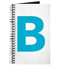Letter B Blue Journal