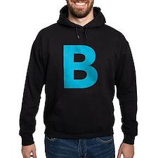 Letter B Blue Hoodie