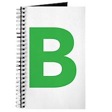 Letter B Green Journal