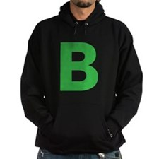 Letter B Green Hoodie