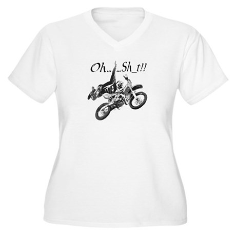 OH......Sh_t!! Women's Plus Size V-Neck T-Shirt