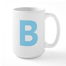 Letter B Light Blue Mugs