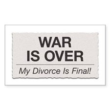 War Is Over Decal