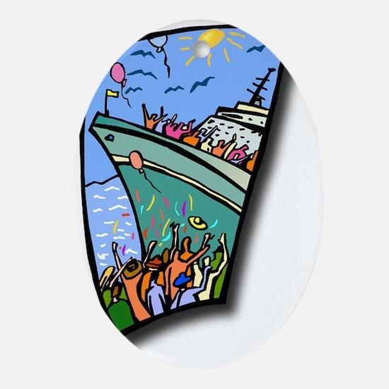 Cruise Oval Ornament